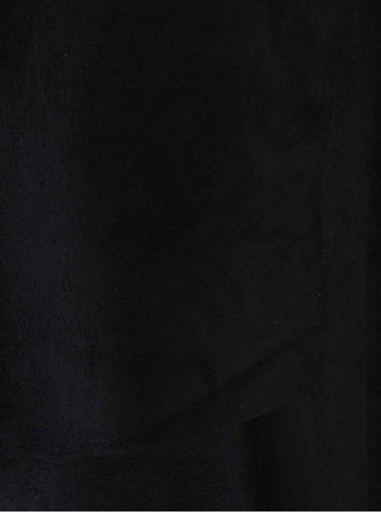 Černý blejzr s třásněmi v semišové úpravě ONLY Queenie