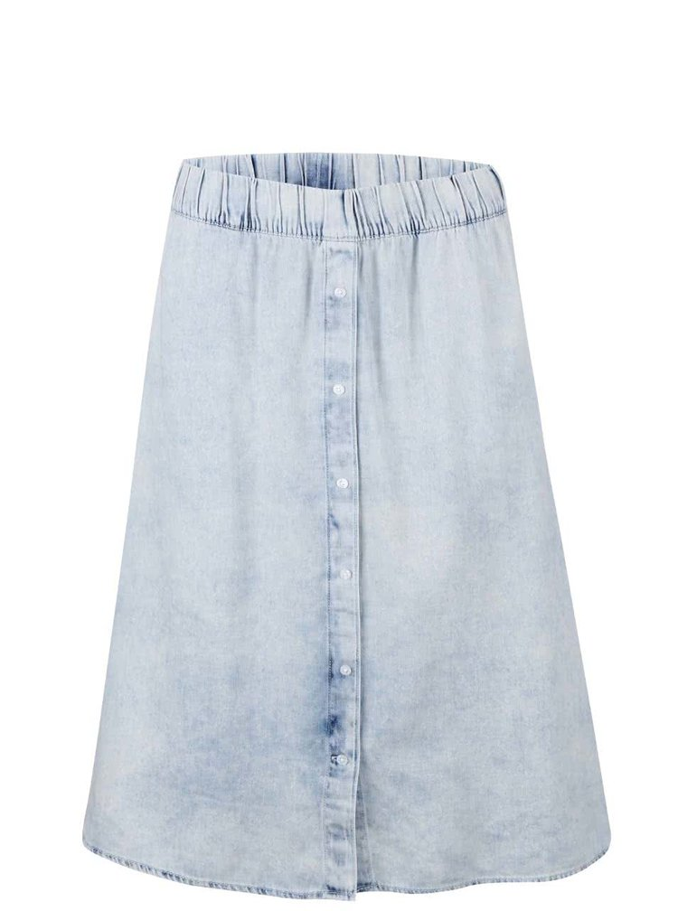Svetlomodrá rifľová midi sukňa Cheap Monday
