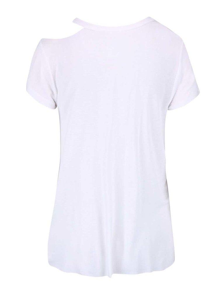 Tricou alb damă Cheap Monday cu decolteu