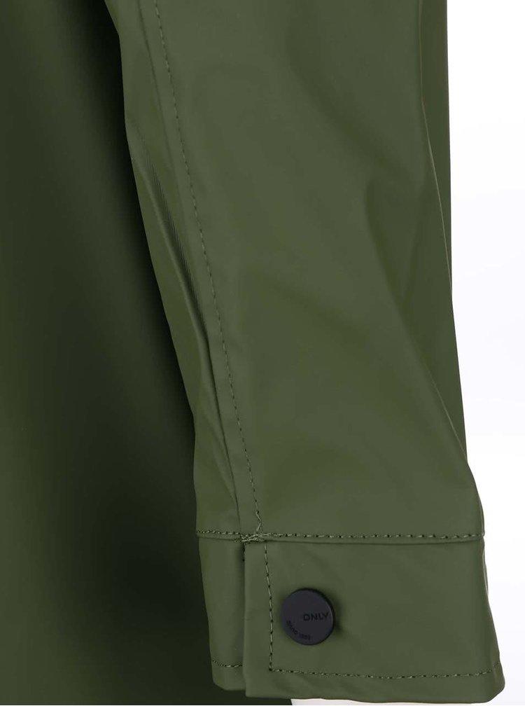 Zelený nepromokavý kabát ONLY Station