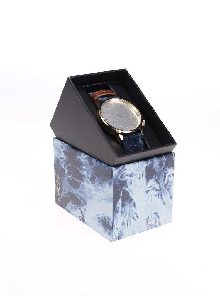 Unisex hodinky ve zlaté barvě s textilním páskem Komono Winston Heritage