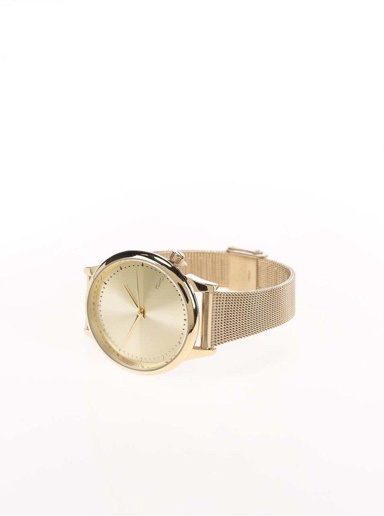 Dámské hodinky ve zlaté barvě s kovovým páskem Komono Estelle Royale