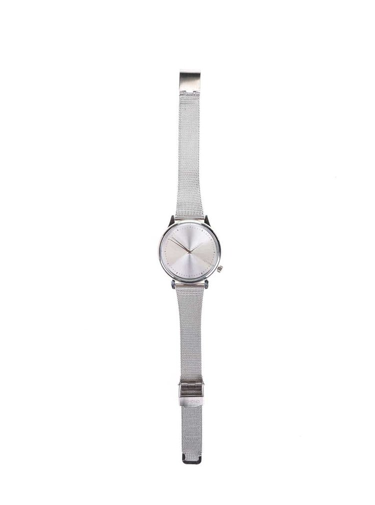 Dámské hodinky ve stříbrné barvě s kovovým páskem Komono Estelle Royale