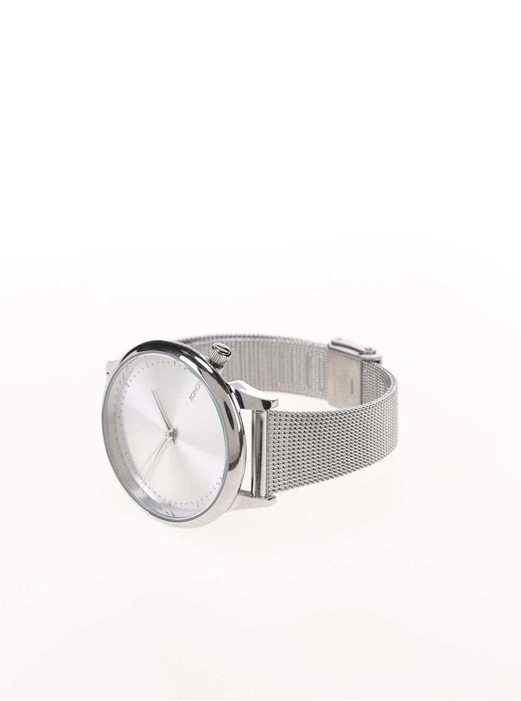 Ceas argintiu cu bratara metalica pentru femei - Komono Estelle Royale