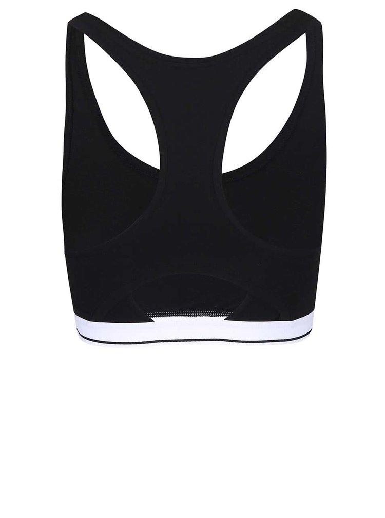 Čierna športová podprsenka Pieces Vuda Triangle