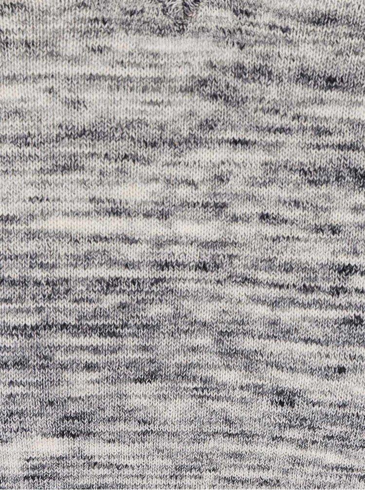 Světle šedý žíhaný tenký svetr Blend