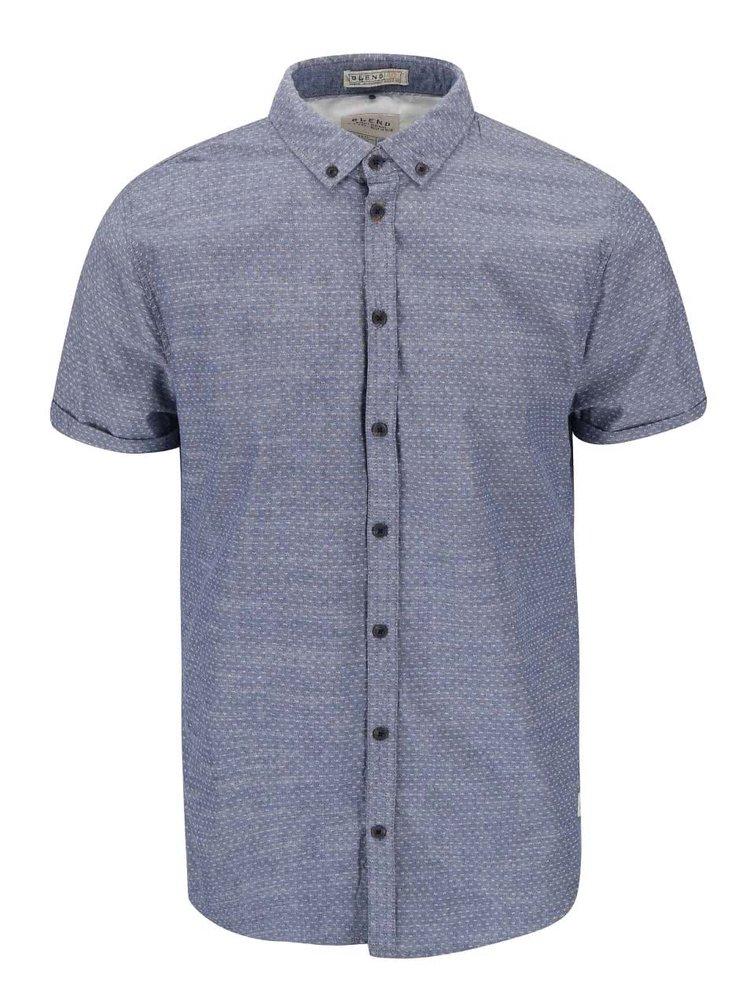 Světle modrá vzorovaná slim košile s krátkým rukávem Blend