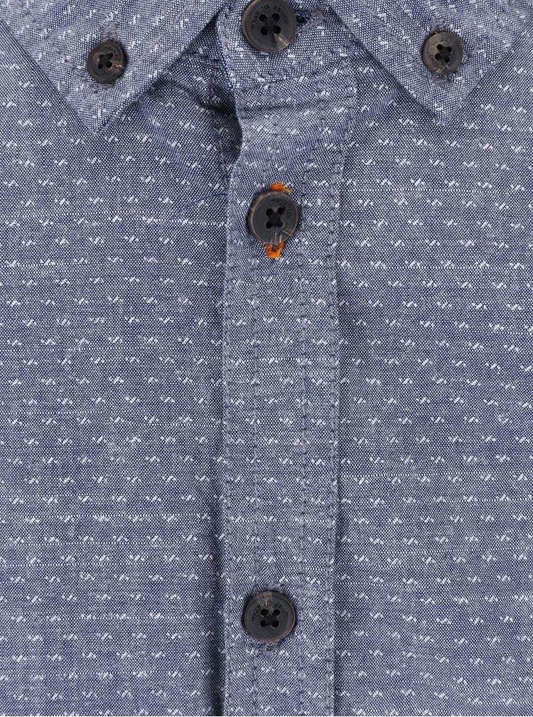 Svetlomodrá vzorovaná slim košeľa s krátkym rukávom Blend