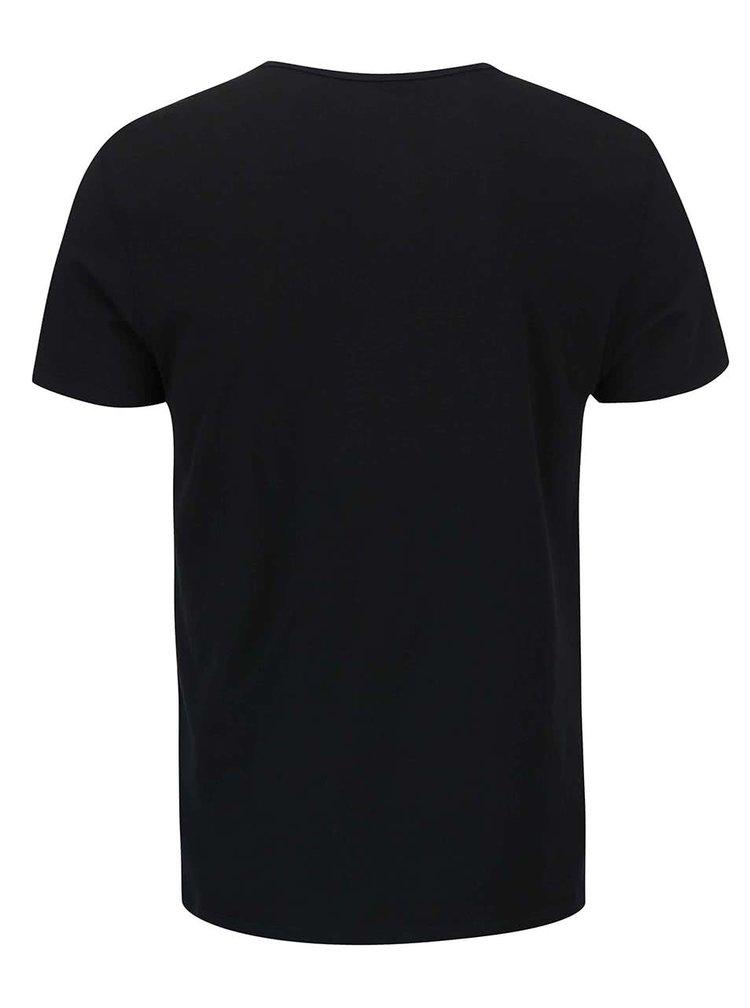 Čierne tričko s gombíkmi Blend