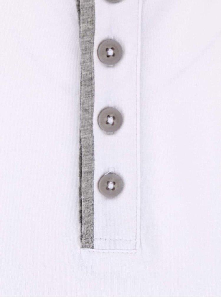 Bílé triko s knoflíky Blend