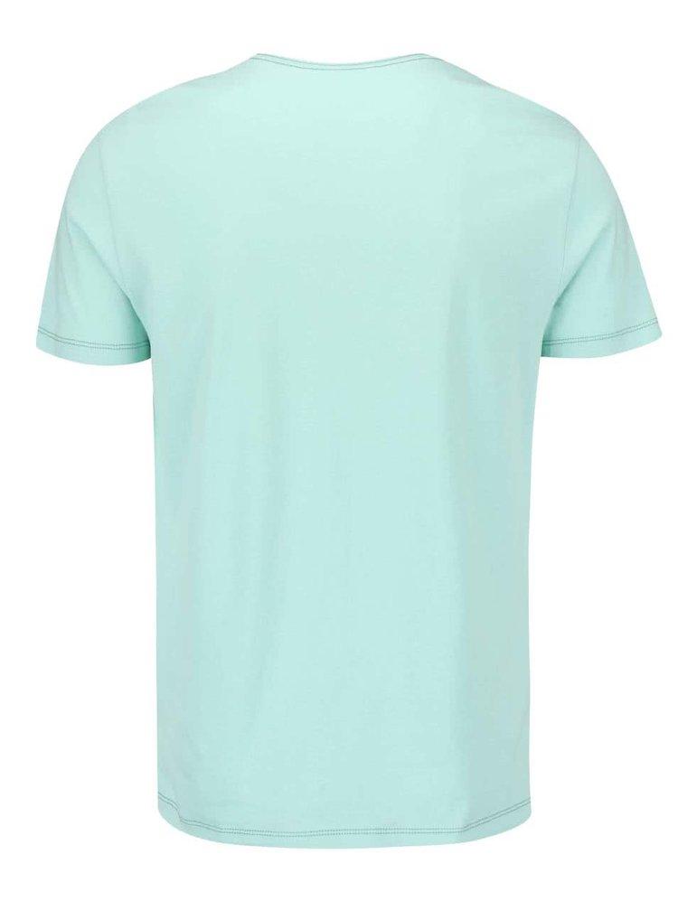 Tricou Blend de culoare verde deschis printat