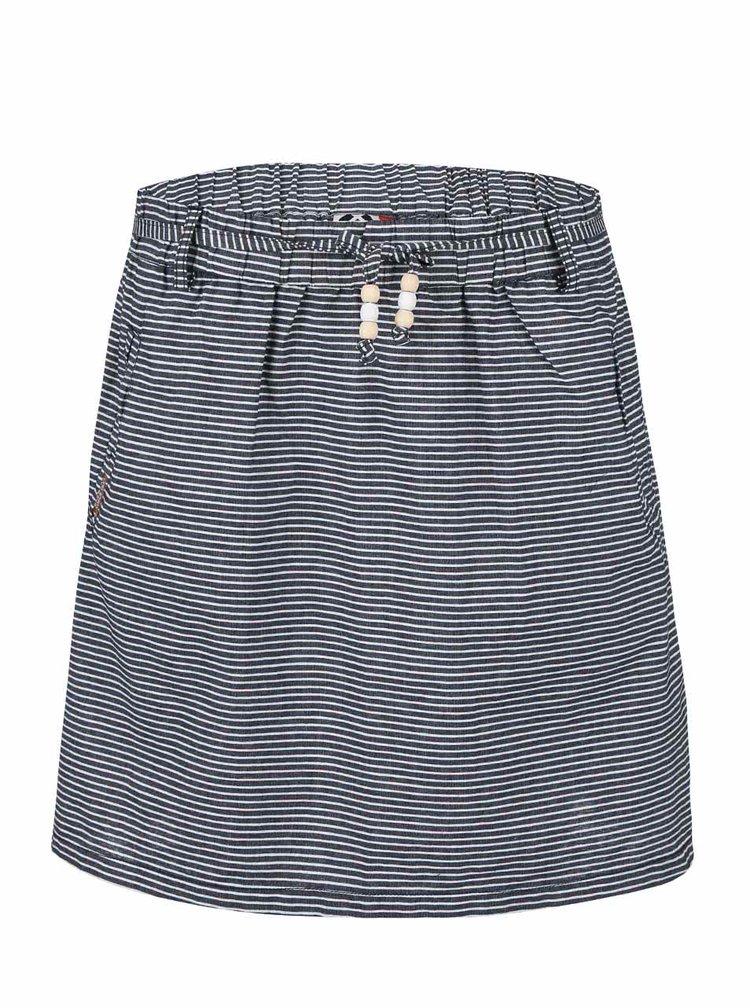 Tmavě modrá pruhovaná sukně Ragwear Kristie Stripes