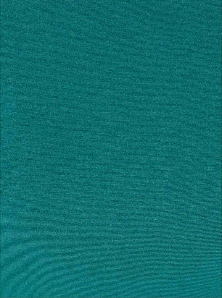 Modrý top se vzorovaným lemem Tranquillo Grashoper