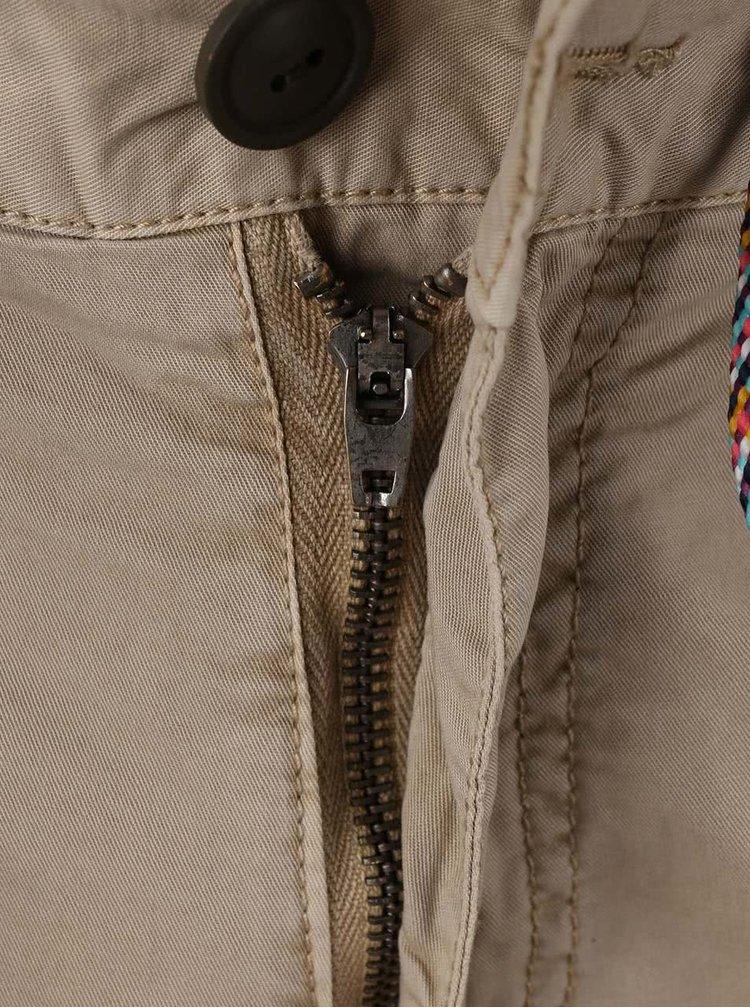 Béžové kraťasy s barevným zavazováním Blend