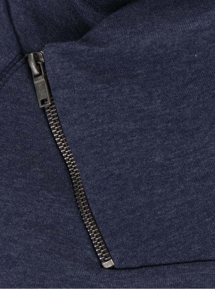 Tmavomodrá minika s golierom na zips Blend
