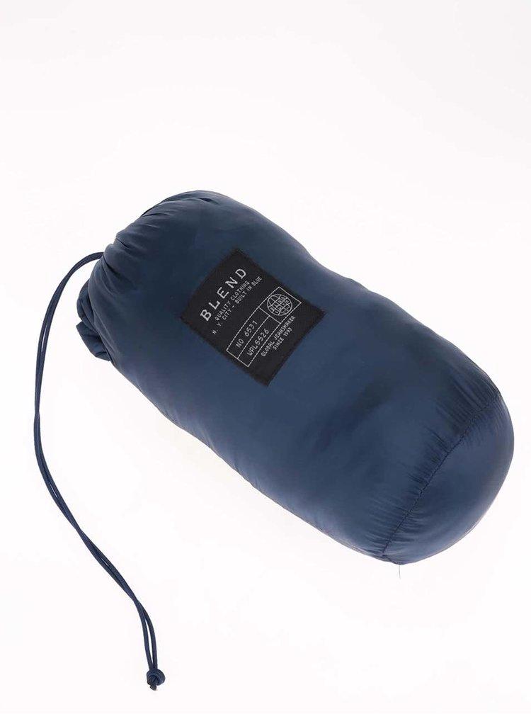 Jacheta Blend albastra, matlasata