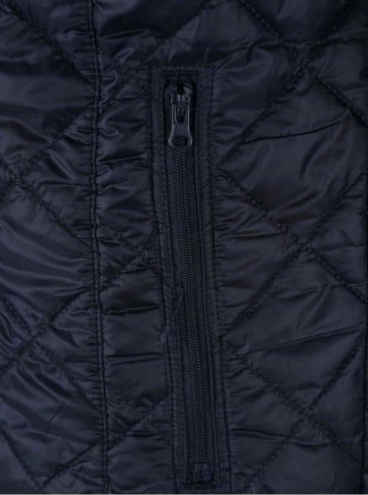 Tmavě modrá prošívaná bunda Blend