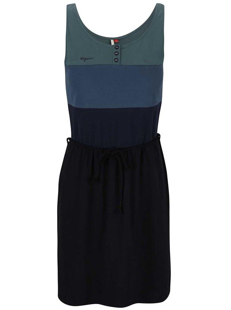 Modro-černé šaty s pruhy Ragwear Emily