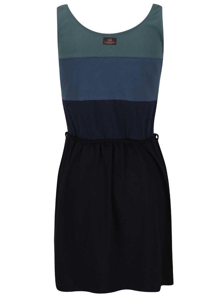 Modro-čierne šaty s pruhmi Ragwear Emily