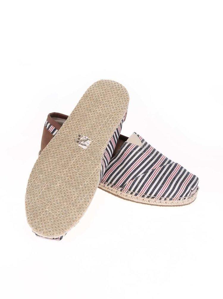 Farebné pánske pruhované loafers TOMS Alpargatas