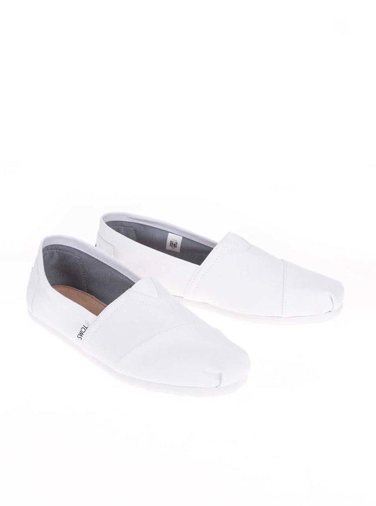 Biele pánske loafers TOMS Alpargatas