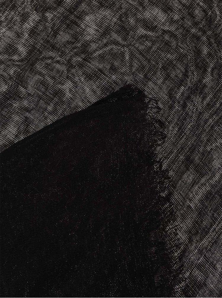 Eșarfă neagră Pieces Tilda