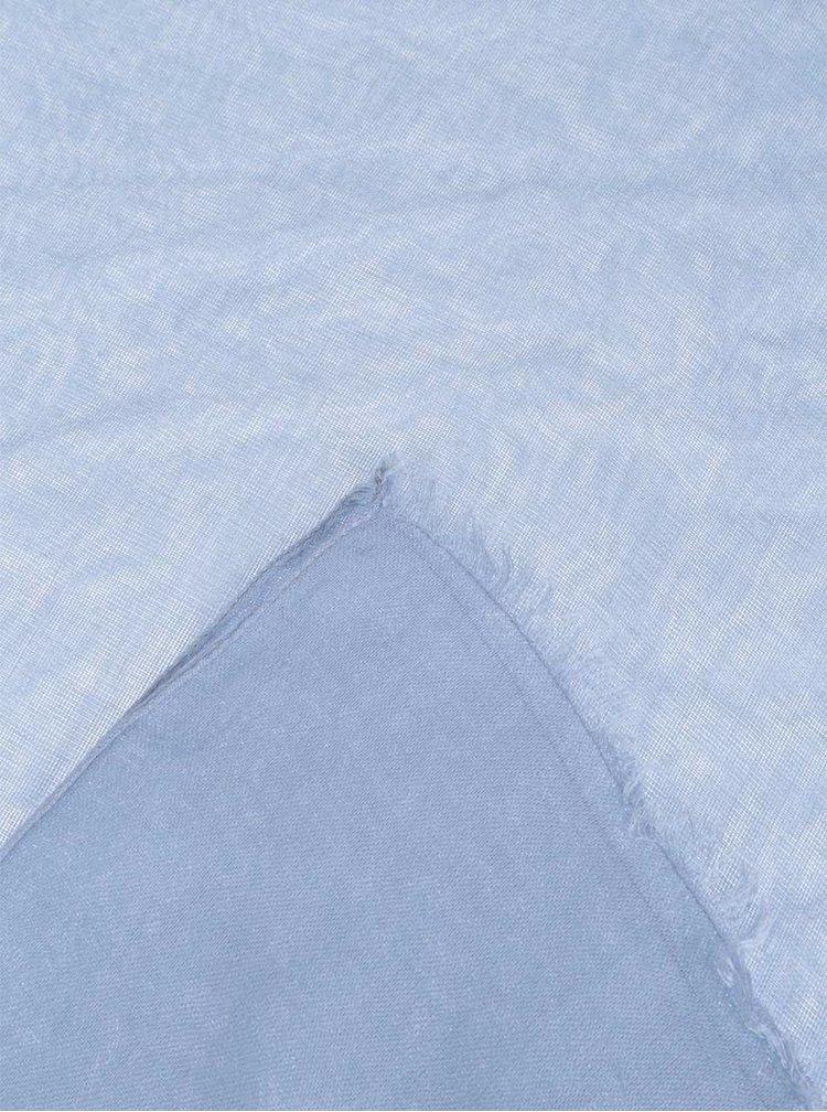 Modrá dlouhá šála Pieces Tilda