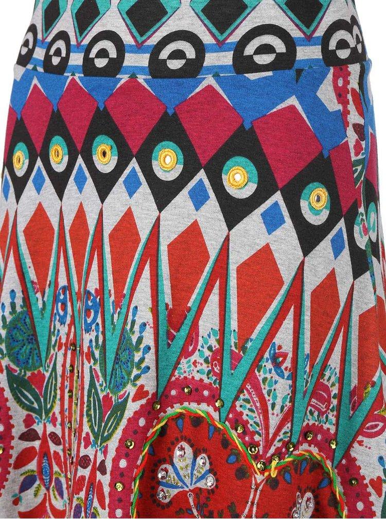 Farebná áčková sukňa Desigual Marte