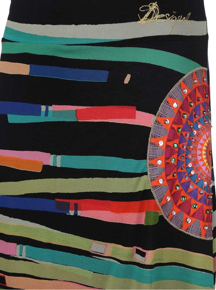 Farebná sukňa s asymetrickou dĺžkou Desigual Hola