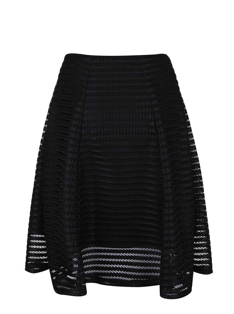Černá sukně ze síťované krajky Apricot