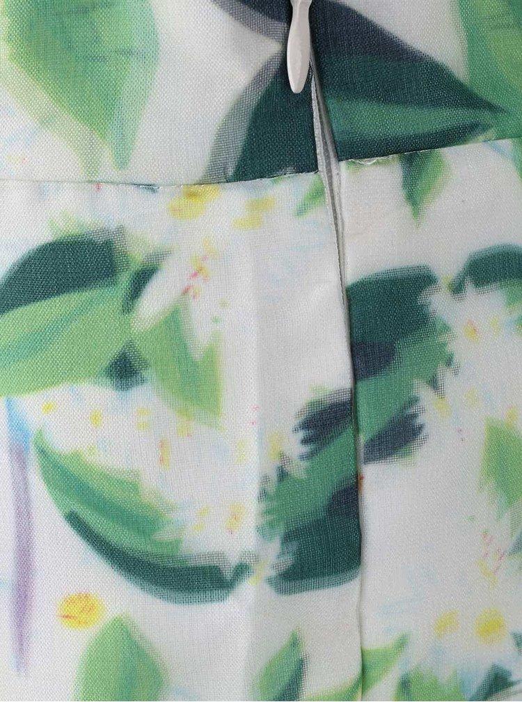 Fustă Apricot cu model floral de culoare alb și verde