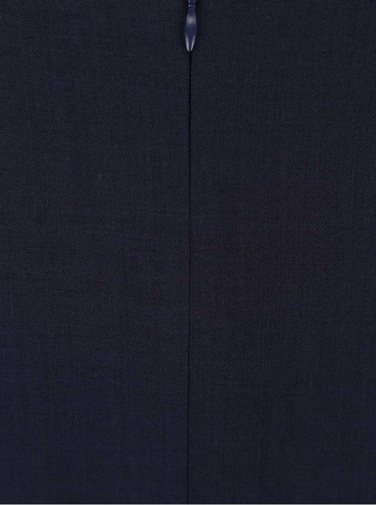 Rochie Apricot navy cu mâneci scurte