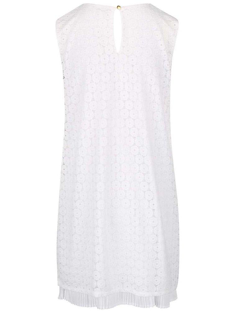 Biele čipkované šaty bez rukávov Apricot
