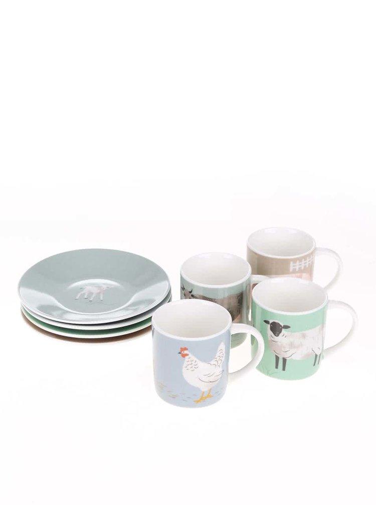 Set de cafea Magpie Hugletts cu print