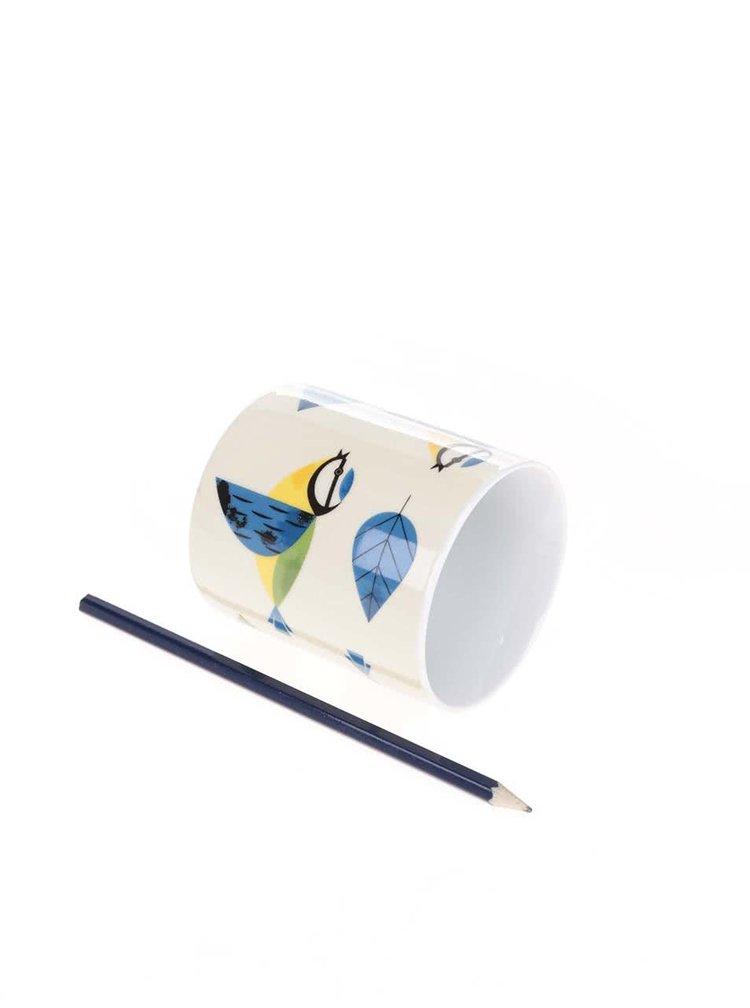 Cana Magpie Blue Tit crem, cu print
