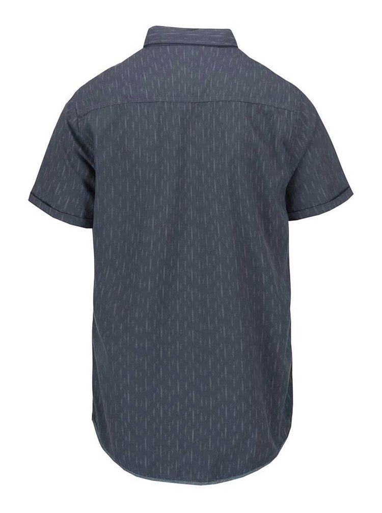 Sivomodrá vzorovaná slim košeľa s krátkym rukávom Blend