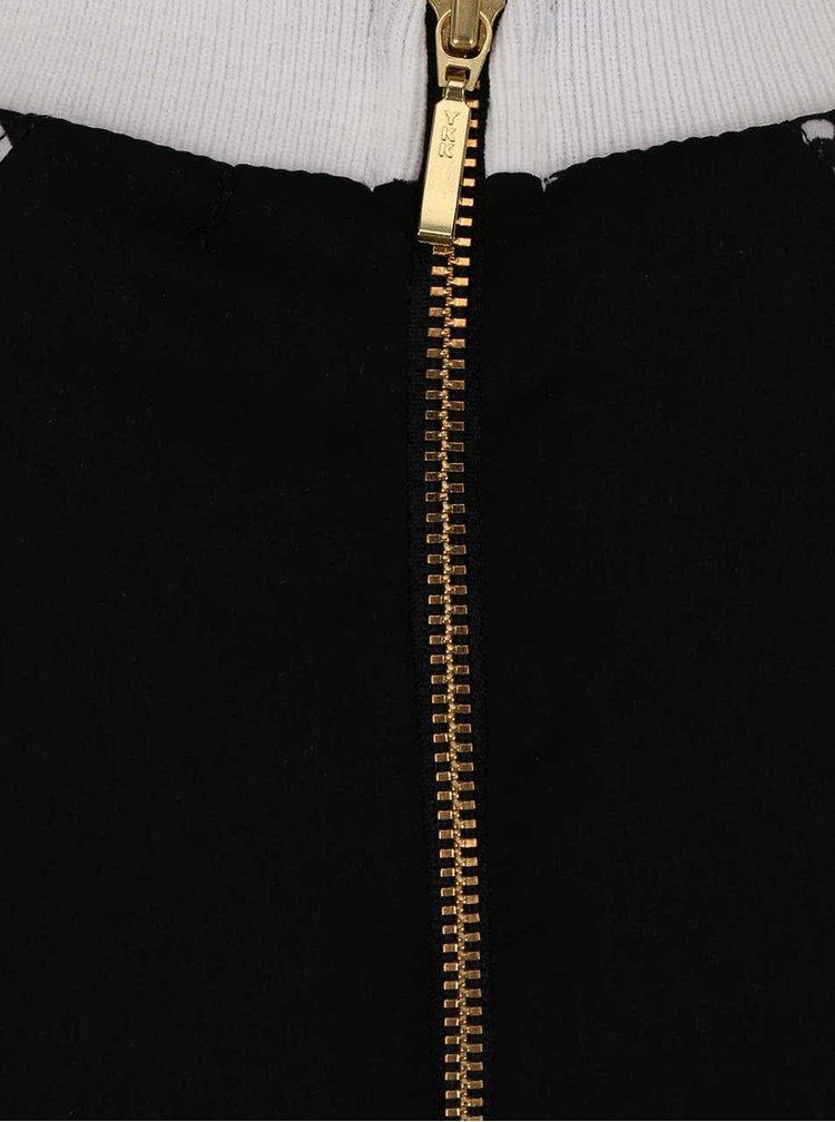 Top Desigual Leira negru, cu model, fără mâneci