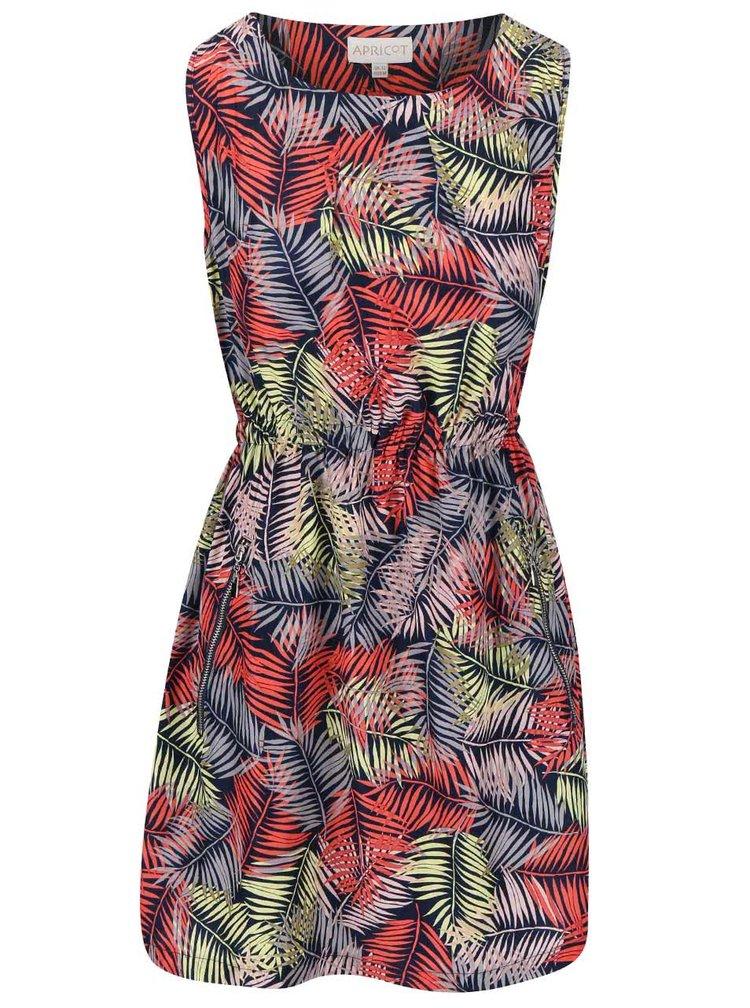Koralové šaty s motívom listov Apricot