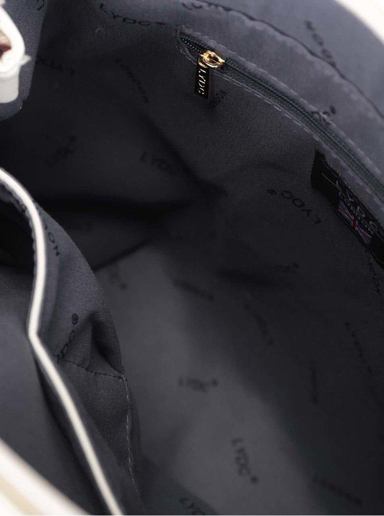 Krémová kabelka se střapci LYDC