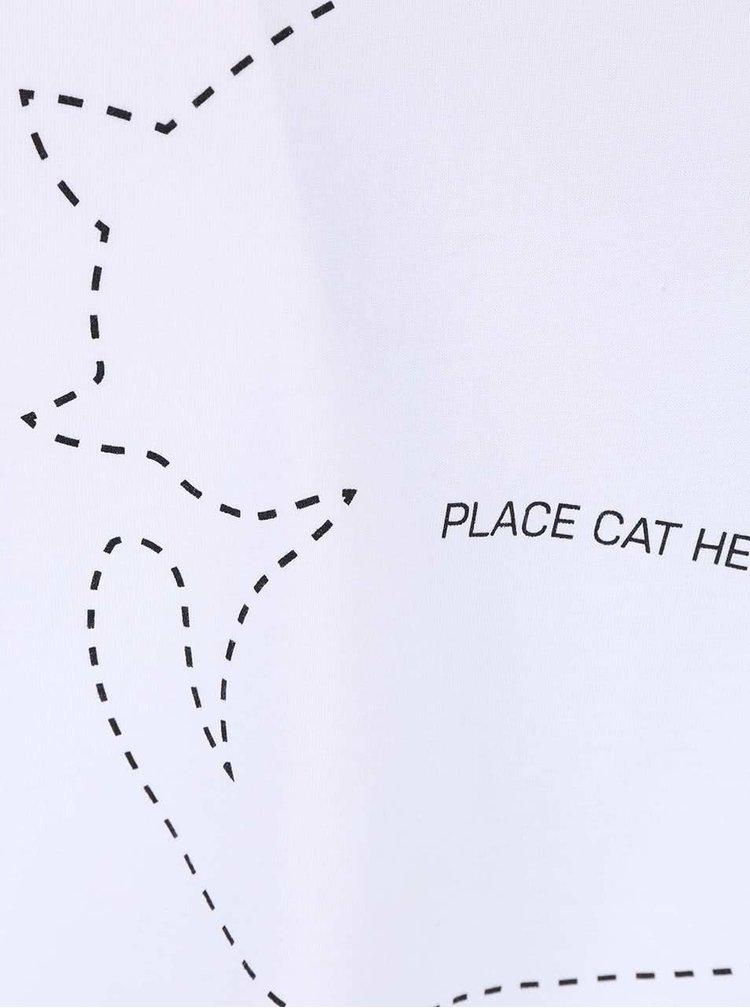 Bílé pánské tričko ZOOT Originál Place Cat Here