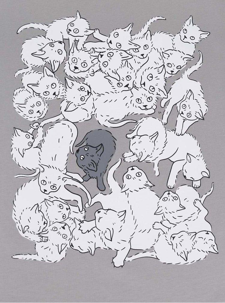 Tricou de fete ZOOT Original gri, cu print