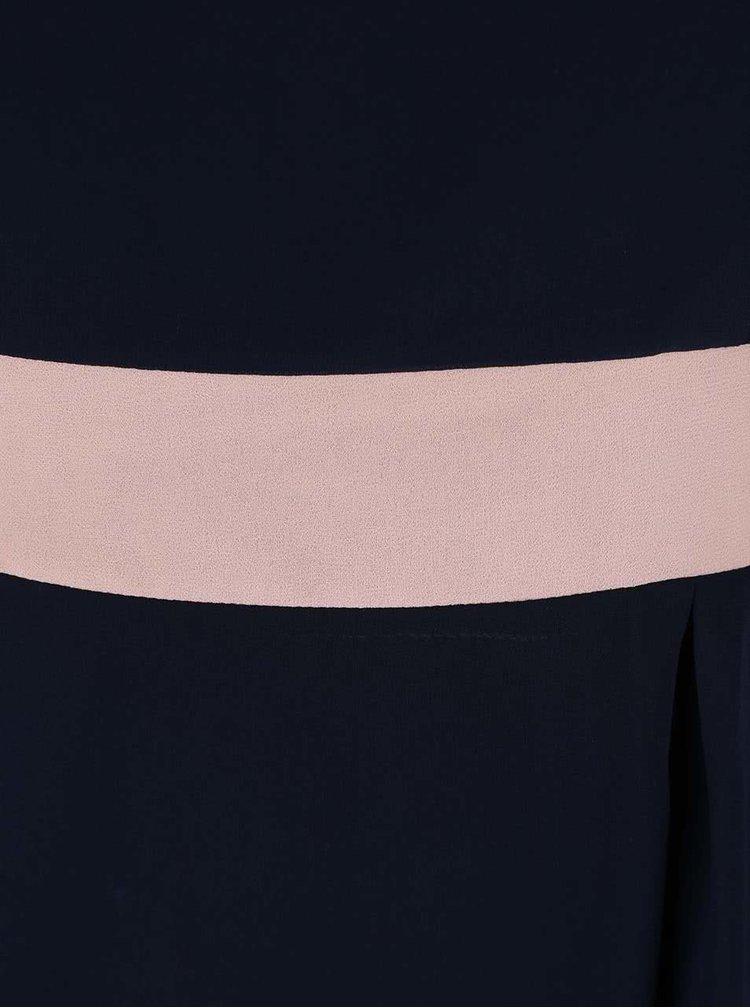 Růžovo-modré šifonóvé šaty Apricot