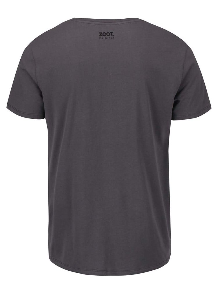 Tmavě šedé pánské triko ZOOT Originál Pozor, zlý pes