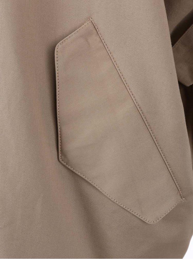 Béžový oversized kabát s kimonovými rukávmi YAYA