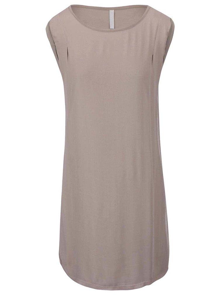 Hnedosivé šaty YAYA
