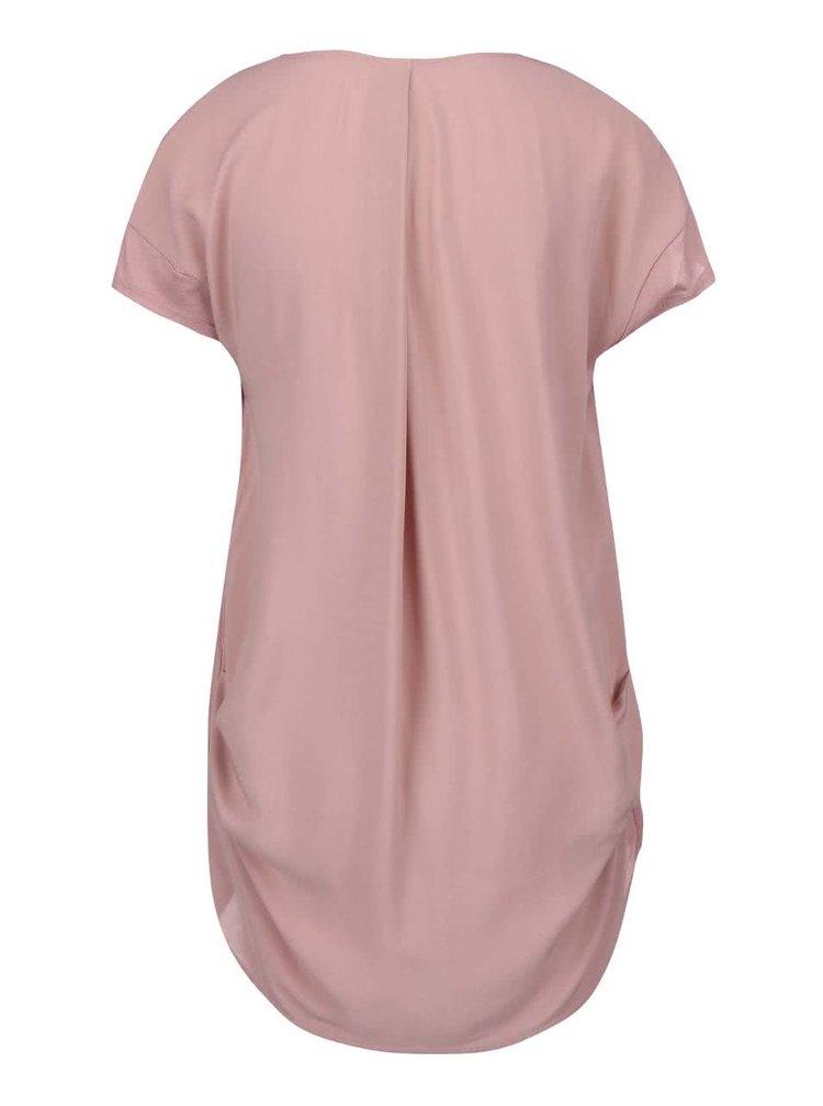 Ružový top s predĺženým chrbtom YAYA