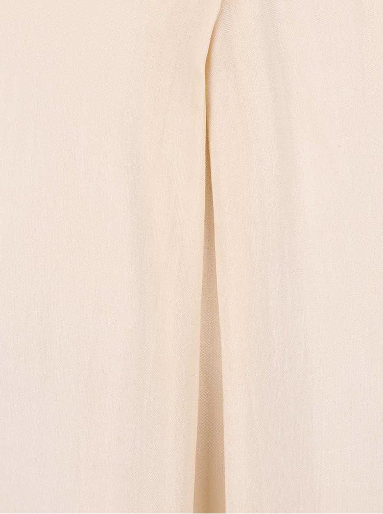 Krémový top s prodlouženými zády YAYA