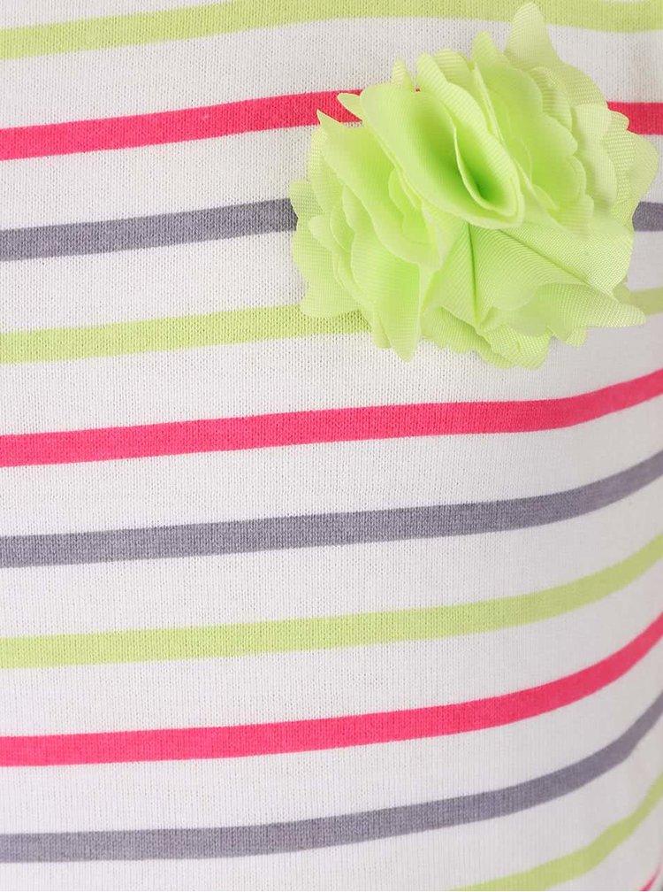 Rochie Tom Joule în dungi colorate, cu floare