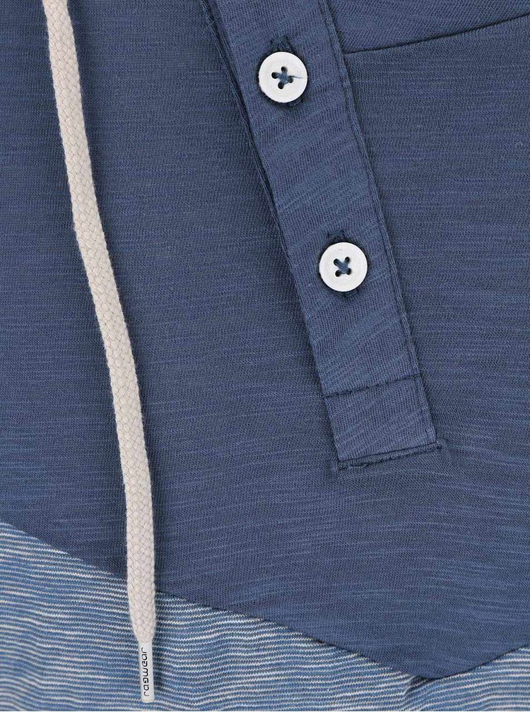Modrá pánska pruhovaná ľahšia mikina Ragwear Peanuts