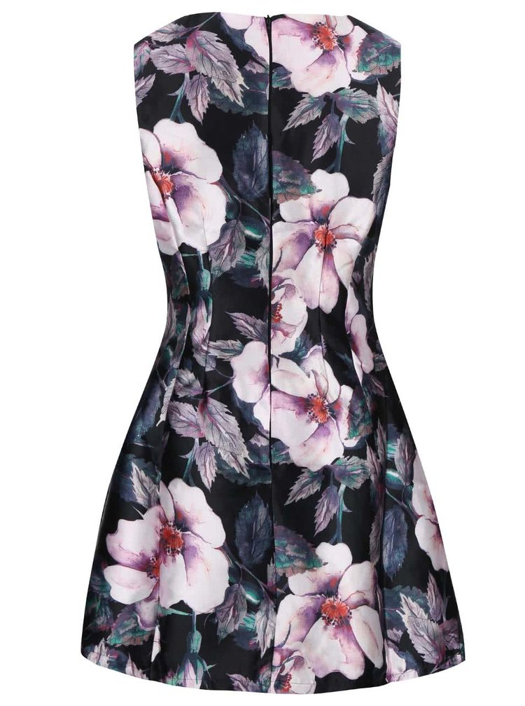 Rochie neagra AX Paris cu model floral